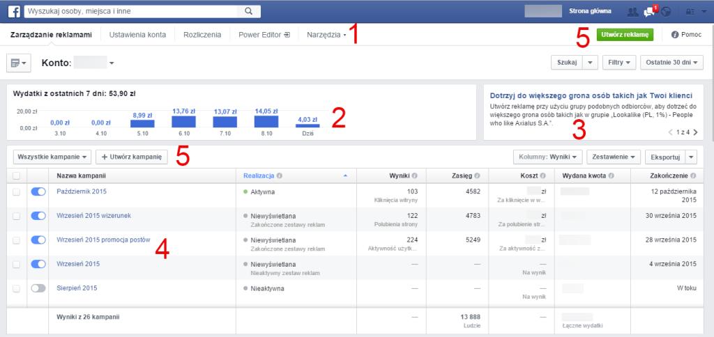 Menadżer zadań Facebook