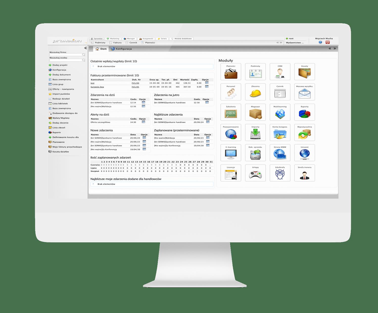 System do zarządzania siecią sprzedaży i rozliczeniami